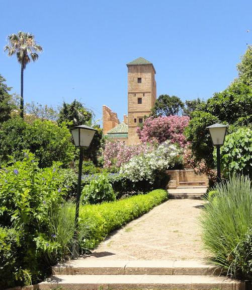 Le jardin des oudayas ou le jardin andalou thrifty maroc for Jardin oudaya rabat